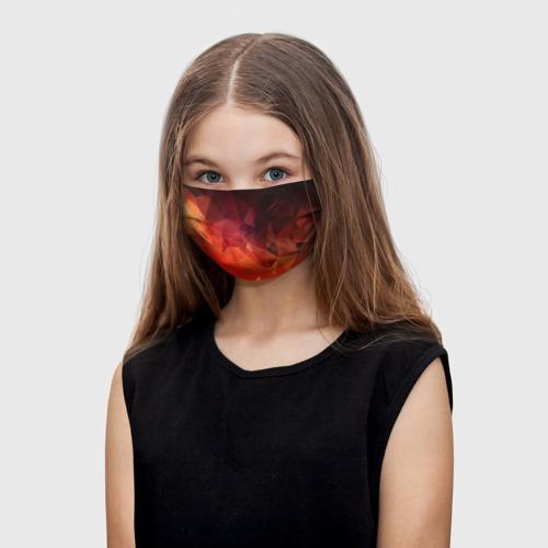 Детская маска (+5 фильтров) Polygon(orange) One фото