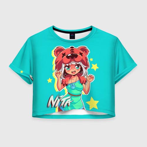 Женская футболка Crop-top 3D BEAR GIRL Фото 01
