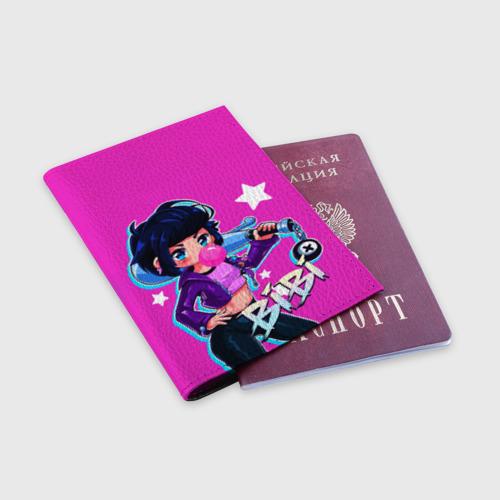 Обложка для паспорта матовая кожа BIBI Фото 01