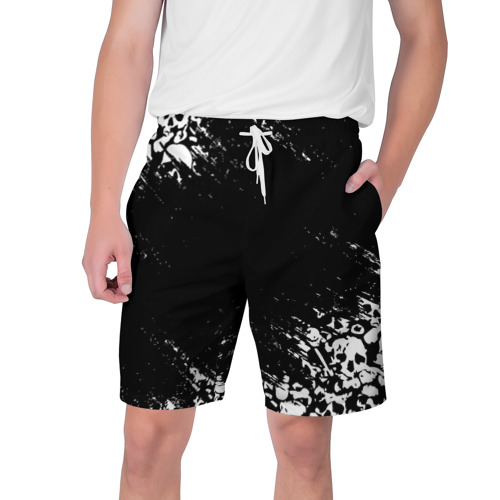 Мужские шорты 3D БЕЛЫЕ ЧЕРЕПА | WHITE SKULLS Фото 01