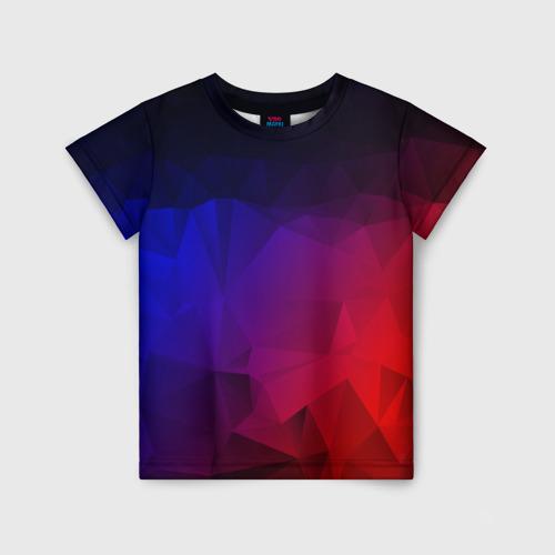 Детская футболка 3D НЕОНОВАЯ ГЕОМЕТРИЯ 110 фото