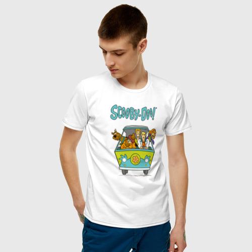 Мужская футболка хлопок Scooby-Doo Фото 01