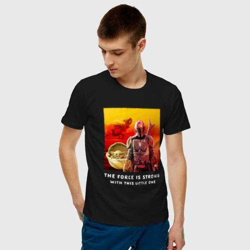 Мужская футболка хлопок Большая сила Фото 01