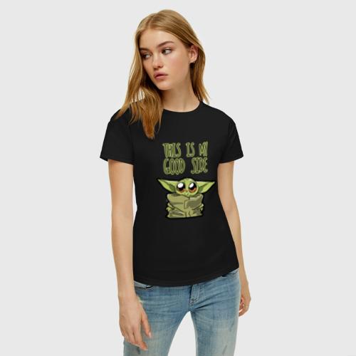 Женская футболка хлопок Child Yoda  Фото 01