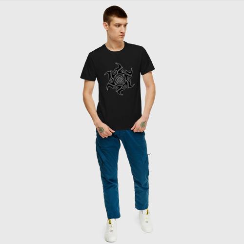 Мужская футболка хлопок Звезда Сварога Фото 01