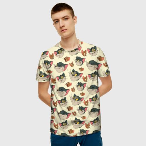 Мужская футболка 3D Tom&Jerry Фото 01