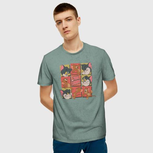 Мужская футболка 3D Cube Tom&Jerry Фото 01