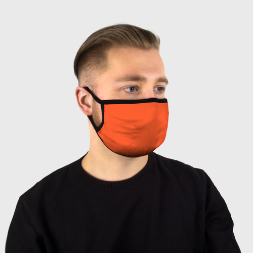 Ярко-оранжевая маска