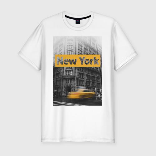 Мужская футболка премиум Нью-Йорк Фото 01