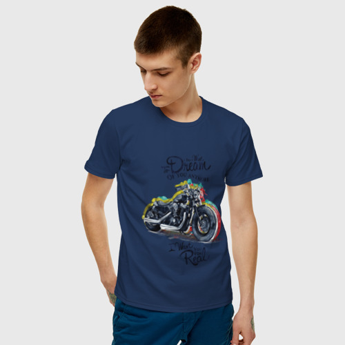 Мужская футболка хлопок Мотоцикл Фото 01