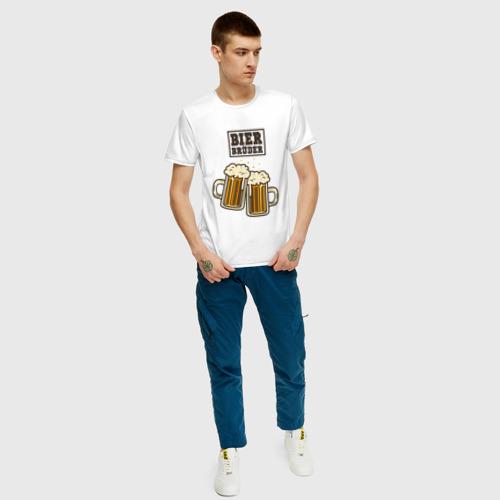 Мужская футболка хлопок Пивной брат Фото 01