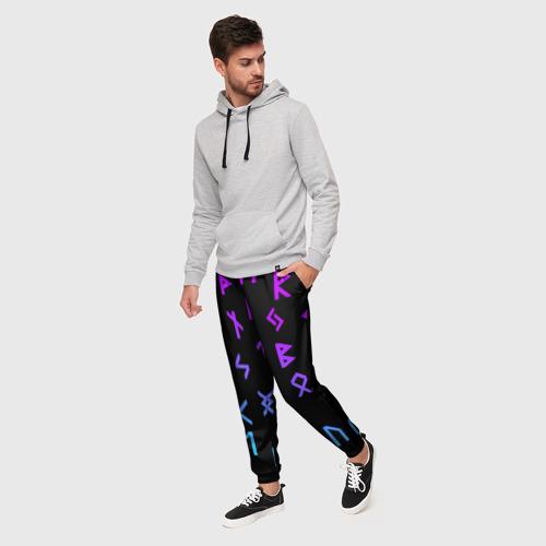 Мужские брюки 3D РУНЫ | РУСЬ | СИМВОЛЫ Фото 01