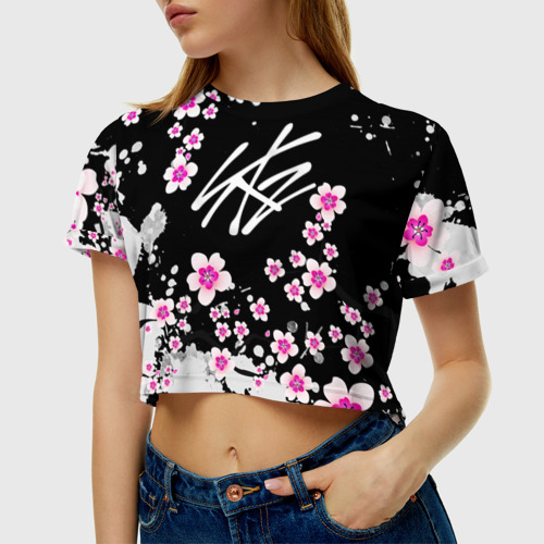 Женская футболка Crop-top 3D Stray Kids Фото 01