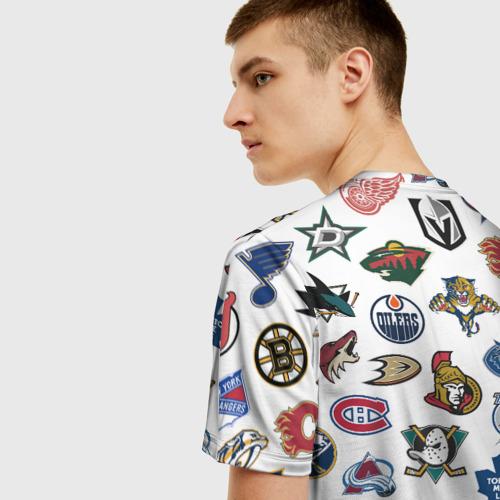 Мужская футболка 3D Логотипы НХЛ Фото 01