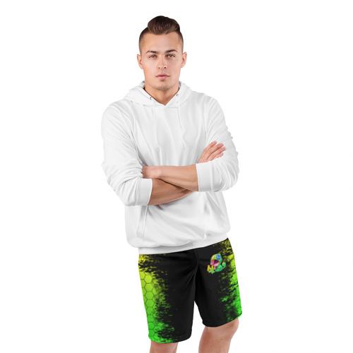Мужские шорты спортивные Бравл Старс Леон Фото 01