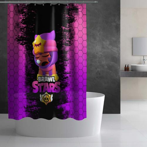 Штора 3D для ванной Бравл Старс Сэнди Фото 01