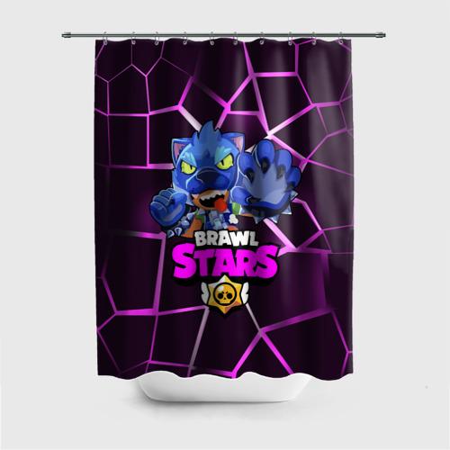 Штора 3D для ванной BRAWL STARS LEON Фото 01