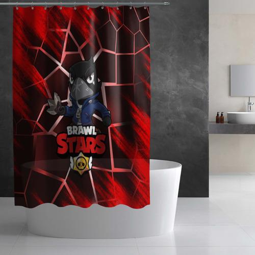 Штора 3D для ванной BRAWL STARS CROW Фото 01