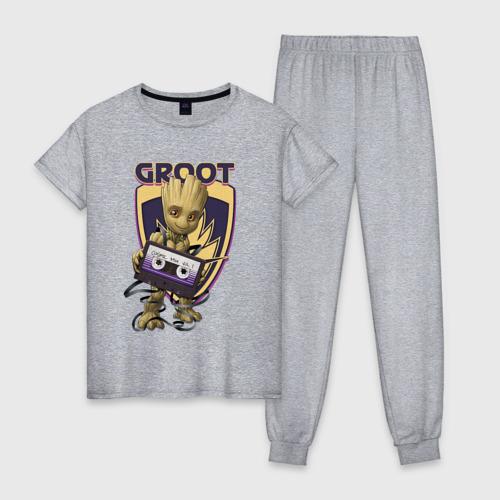 Женская пижама хлопок Groot Фото 01