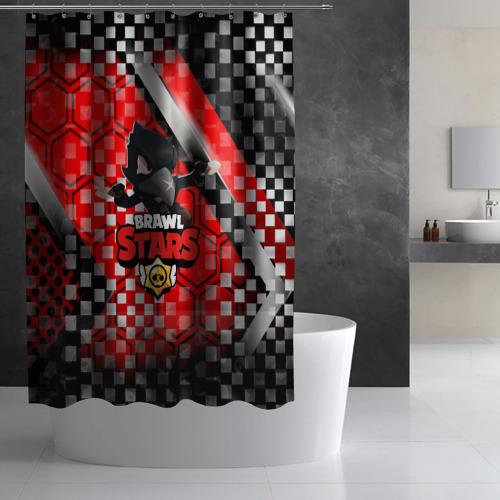 Штора 3D для ванной BRAWL STARS:CROW Фото 01