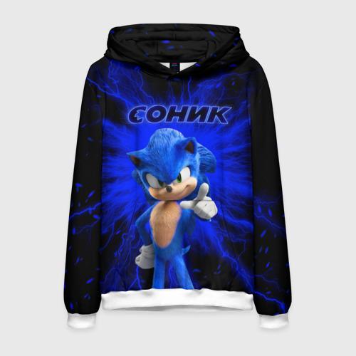 Мужская толстовка 3D Sonic. Фото 01
