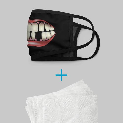 Маска защитная (+5 фильтров) Улыбка без зубов. Фото 01