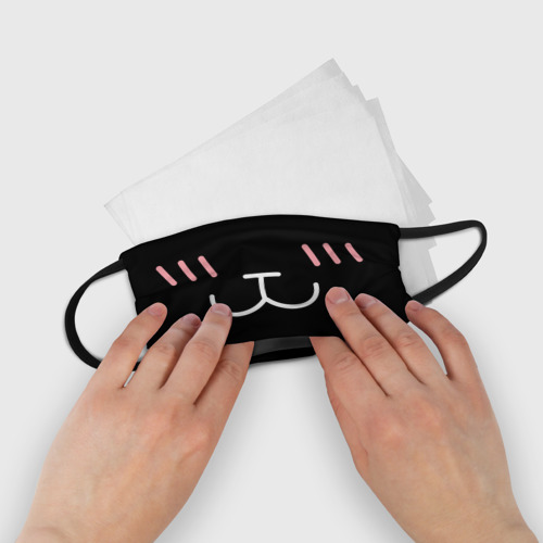 Детская маска (+5 фильтров) Кавайный котик Фото 01
