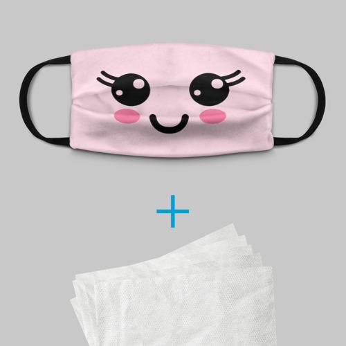 Детская маска (+5 фильтров) KAWAII FACE Фото 01