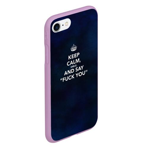 Чехол для iPhone 7/8 матовый Keep calm Фото 01