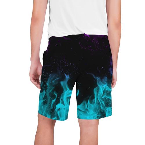 Мужские шорты 3D НЕОНОВЫЙ ОГОНЬ | NEON FIRE Фото 01