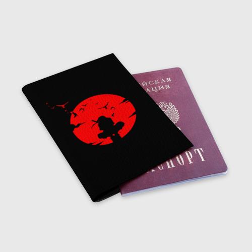 Обложка для паспорта матовая кожа ИТАЧИ УЧИХА | ITACHI UCHIHA | НАРУТО Фото 01