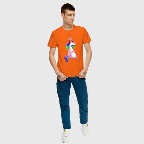 Мужская футболка хлопок Единорог Фото 01