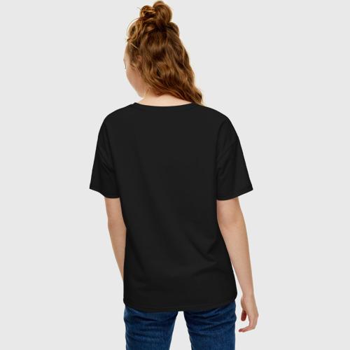 Женская футболка хлопок Oversize Вышивка Фото 01