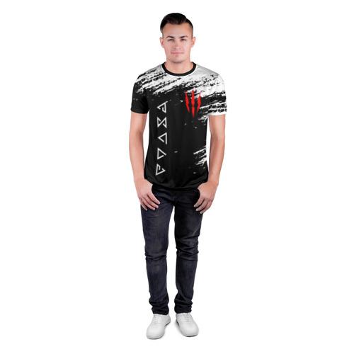 Мужская футболка 3D спортивная ВЕДЬМАК. Фото 01