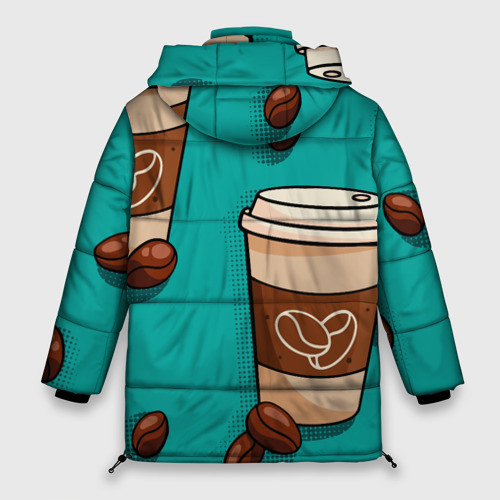 Женская зимняя куртка Oversize Я ЛЮБЛЮ КОФЕ | I LOVE COFFEE (Z) Фото 01