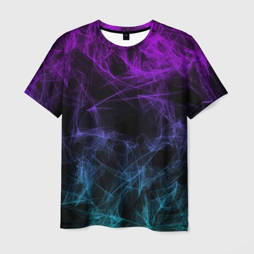 Мужская футболка 3D NEON SMOKES STRIPES   НЕОНОВЫЕ ВОЛНЫ Фото 01