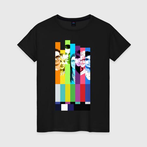 Женская футболка хлопок Big Bang Theory collage Фото 01