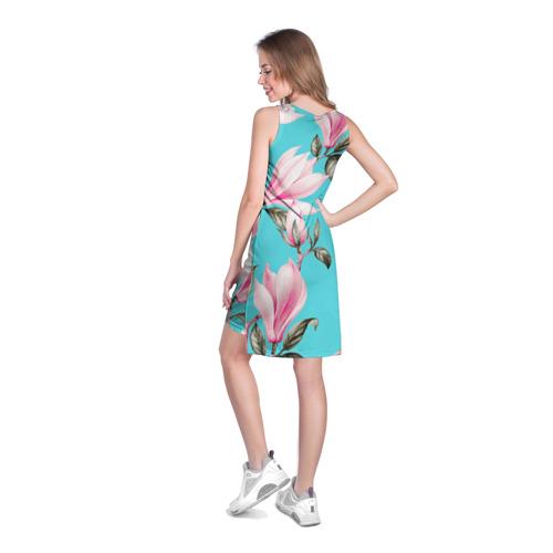 Платье-майка 3D Весна. Цветение Магнолии. Фото 01