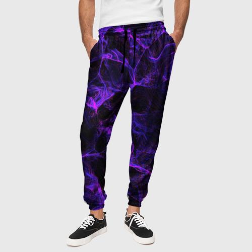 Мужские брюки 3D PURPLE DIGITAL SMOKE NEON Фото 01