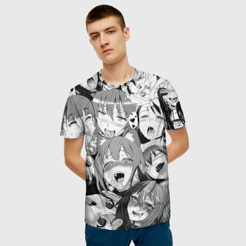 Мужская футболка 3D AHEGAO monochrome Фото 01