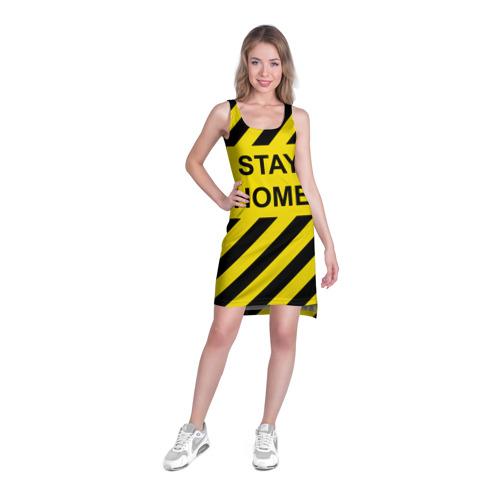 Платье-майка 3D Stay home Фото 01