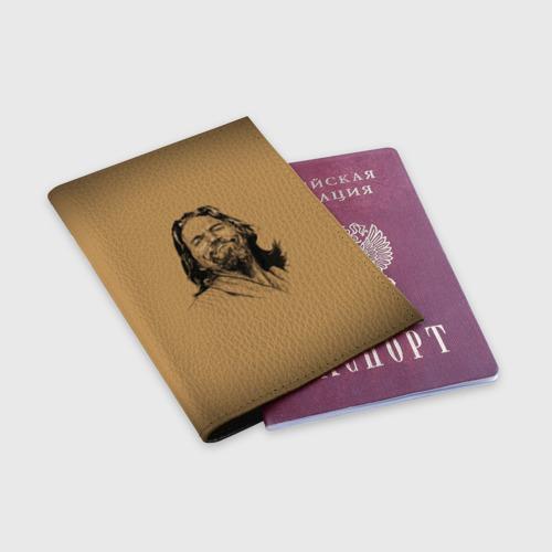 Обложка для паспорта матовая кожа The Big L Фото 01