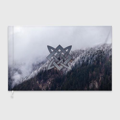 Флаг 3D Квадрат Сварога Фото 01