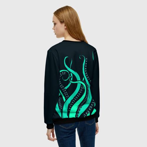 Женский свитшот 3D Щупальца осьминога Фото 01