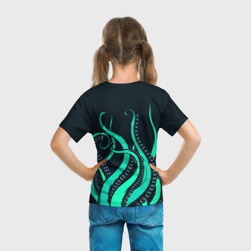 Детская футболка 3D Щупальца осьминога Фото 01