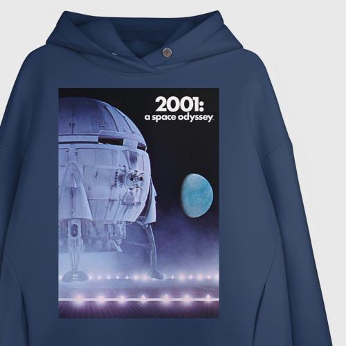 Женское худи Oversize хлопок Spaceship on the moon Фото 01