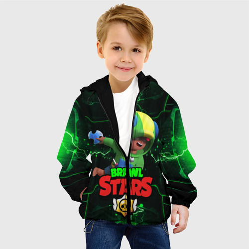 Детская куртка 3D BRAWL STARS LEON   МОЛНИИ Фото 01
