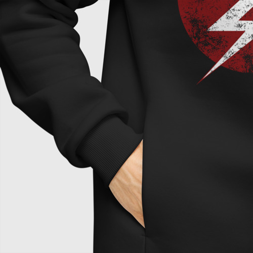 Мужское худи Oversize хлопок The Flash logo Фото 01