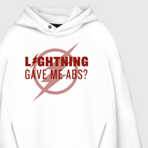 Мужское худи Oversize хлопок Lightning Gave Me Abs? Фото 01