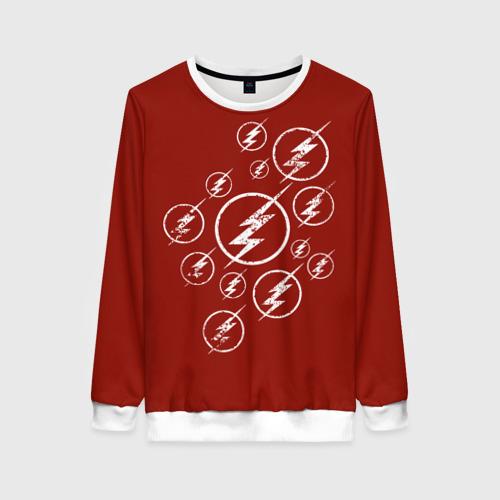 Женский свитшот 3D The Flash Logo Фото 01